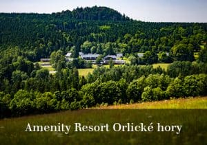 Pohled na Amenity Resort Orlické hory